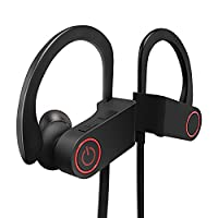 Bluetooth Headphones, Giaride IPX7 Waterproof Sweatproof 4.1 Wireless Sport Bluetooth Earphones Earbuds with Built-in Mic, Stereo Sound, Noise Cancelling for Running Gym Workout for iPhone,iPad, Samsung, HTC