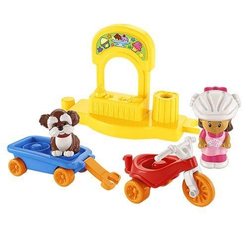 Mattel Y8203 Fisher-Price - Triciclo con rimorchio, serie Little People