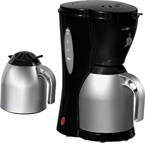 clatronic ka 3279 thermo kaffeemaschine 8 10 tassen 2 kannen 1000 watt schwarz. Black Bedroom Furniture Sets. Home Design Ideas