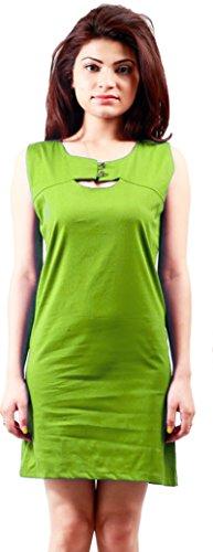 Navyata - Robe - Tunique - Sans Manche - Femme vert Vert/jaune S Vert/jaune