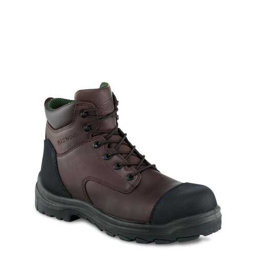 Red Wing 3244 Mens 6 Inch Brown Waterproof Non Metalic Safety Boot brown