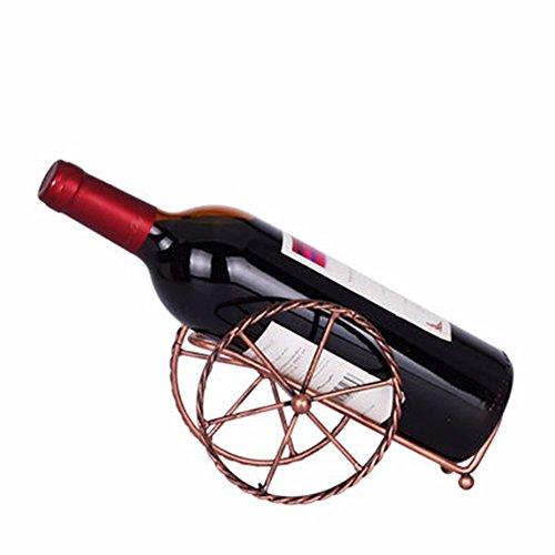 xzlxty Wine Rack eine einzelne Flasche Artillerie Schmiedeeisen Wine Rack Creative Home (Flasche Einzelne Rack)