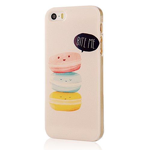VCOER iPhone 5 / 5s Funda Carcasa Protectora Transparente PC Caso Manga Para Protección de las pasteles Patrón de Diseño - marco