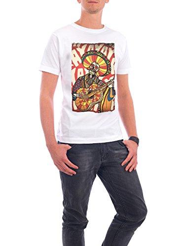 """Design T-Shirt Männer Continental Cotton """"Mariachi"""" - stylisches Shirt Comic Musik von Ali GÜLEÇ Weiß"""