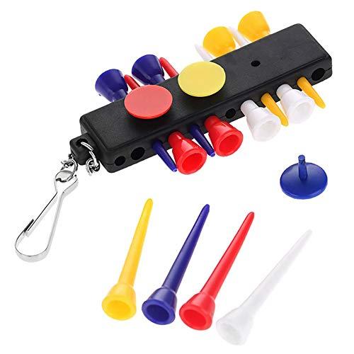 Man9Han1Qxi 1 Set Kunststoff Golf Tee Halter Träger Keychain mit 3 Ball Marker Zubehör 1 -