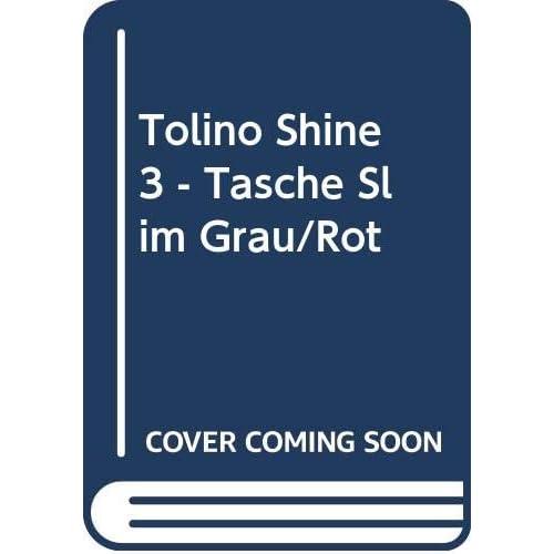tolino shine 3 - Tasche Slim Grau/Rot