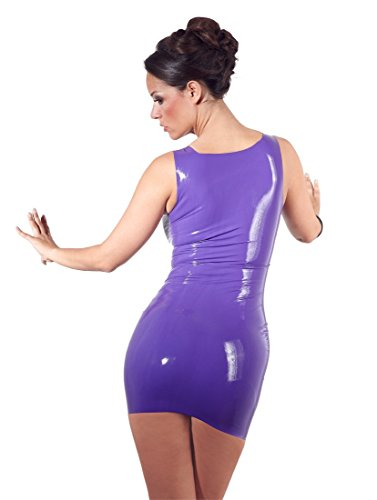 Viola Purple Dress Mini L In Latex Abito trdxhCosQB