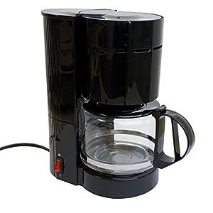 Kaffeemaschine mit Glaskanne 12 Tassen / 24V / 300W Reisekaffeemaschine LKW Boot oder Camper Zigarettenanzünder Filterkaffeemaschine