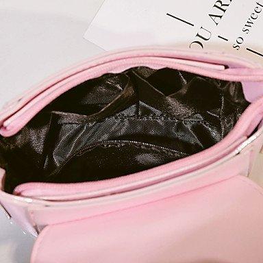 SUNNY KEY-Borsa a tracolla @ Donna Borsa a tracolla PU (Poliuretano) Per tutte le stagioni Casual Altro A scatto Bianco Nero Rosso Rosa , black red
