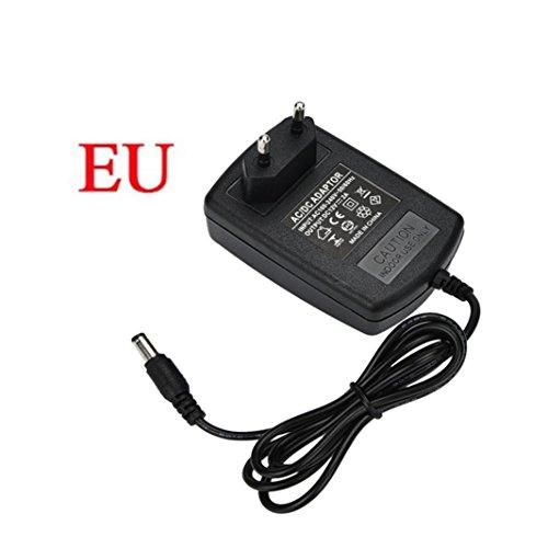 24W Universal AC DC 12V 2A Netzteil Steckernetzteil 3 PIN EU Stecker für 5050 LED Lichter Streifen Adapter Stromadapter für externe Festplatten Gehäuse Dockingstation uvm Ladegerät (2,1 mm x 5,5 mm) -