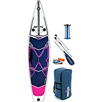 STX 2018 11'6 x 32 X-Light Pure Touring Inflatable Stand Up Paddle Board, Paddle, Pump & Bag Purple