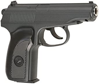 Pistola airsoft Galaxy G.29B negra metálica estilo makaroff. Calibre 6mm. Potencia 0,5 Julios