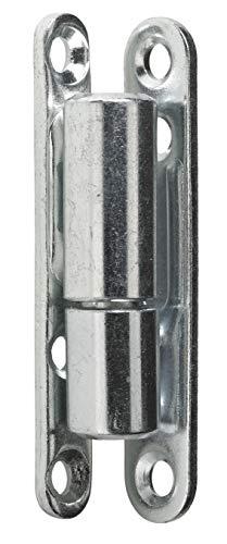 Hettich 9220200 Renovierband (Türband) -zum Aufschrauben, Stahl verzinkt-Belastbarkeit: 40kg, Ø 15 mm, Höhe: 83,5 mm, 10 STK