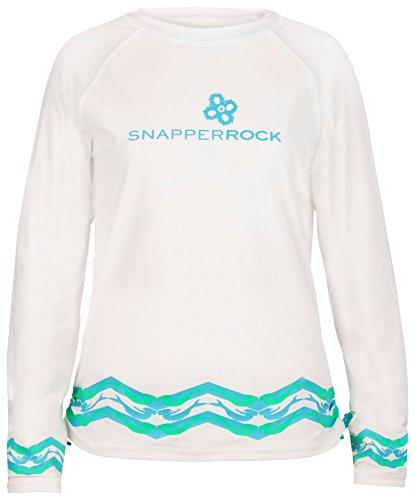 Snapper Rock Mädchen Shirt Meerjungfrau Weiß/Aqua, 5-6 Jahre, 116-122cm