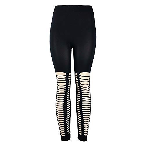 CAOQAO Pantaloni Sportivi di Yoga di Forma Fisica dei Pantaloni del Poliestere del cavità di Alta Moda di Modo Sexy delle Signore