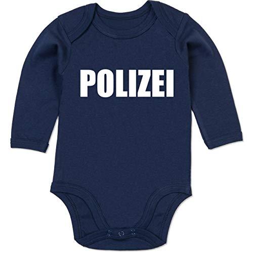 4 Gruppen Von Kostüm - Shirtracer Karneval und Fasching Baby - Polizei Karneval Kostüm - 3-6 Monate - Navy Blau - BZ30 - Baby Body Langarm