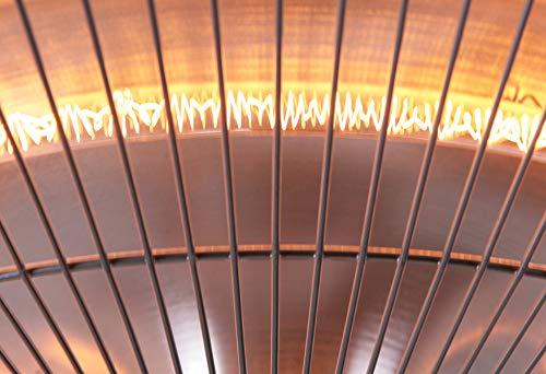 Firefly 1.500 Watt Infrarot-Heizstrahler (Halogen) Terrassenheizung, Deckenmontage (Silber) - 5