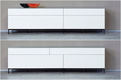 KITOON Sideboard/Lowboard (B 266 H 57 T 48 cm), Fußgestell, Nuß geölt (Echtholzfurnier) - 2
