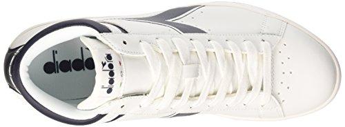 Diadora Game P High, Sneaker Col Roulé Mixte Adulte Bianco/Blu Profondo