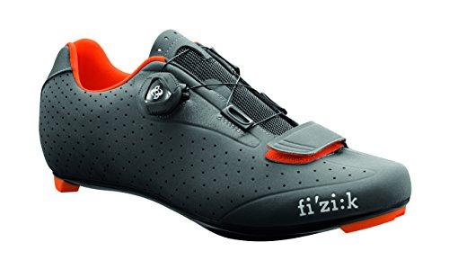 Fizik Sattel R5Uomo Boa Road Fahrradschuhe, Herren, Anthracite/Fluorescent Orange, Size 47 (Schuhe Für Den Radsport Straße)