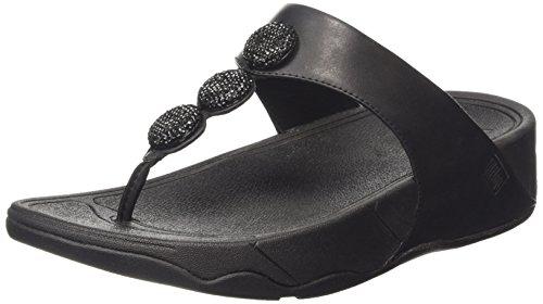 Fitflop Petra (sugar) - Sandali donna, colore nero (black (all black 090)), taglia 39 EU (6 UK)