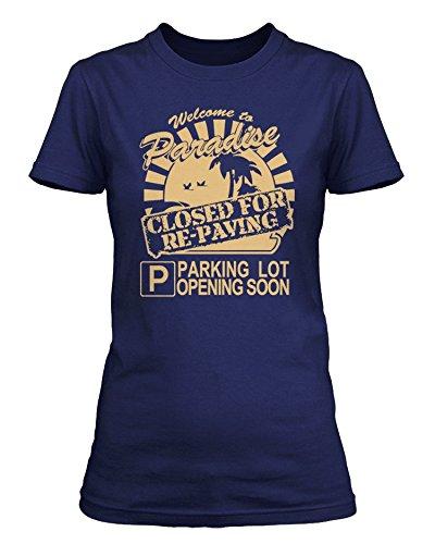 Joni Mitchell - Paradise ClosedBIG YELLOW TAXI T-shirt, Donne, Large, Blu reale