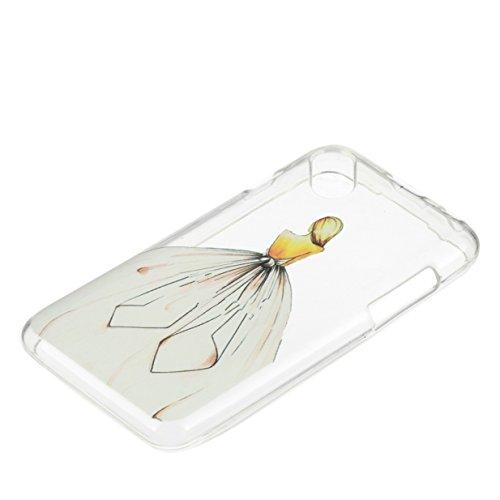 WYSTORE pour Wiko Sunny / Wiko Sunset 2 Vogue Gel Housse étui de téléphone mobile ,TPU Silicone Matériau Transparente Ultra Mince Supérieur Semi Transparent Doux Coque pour Wiko Sunny / Wiko Sunset 2  A04