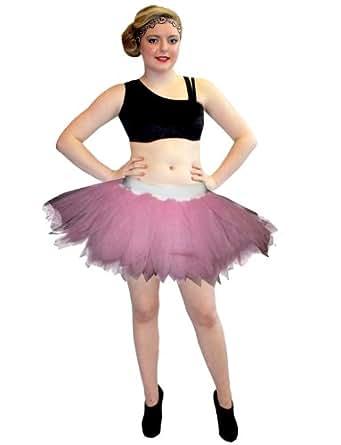Neon UV 7 Layers Peacock Tutu Skirt (Baby Pink)