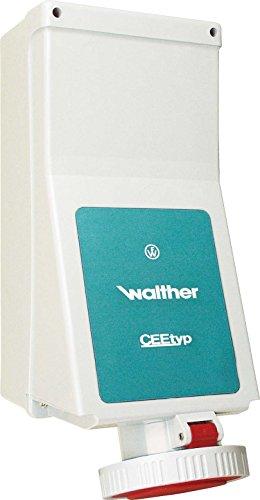 Walther Werke Wandsteckdose 125A 178410 4P >50-500V 10h IP67 CEE-Steckdose 4015609251506