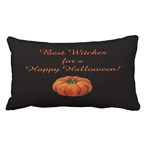 loween Best Witches Throw Pillow Covers Cushion Cover Case 20X30 Inches Pillowcases Two Side ()