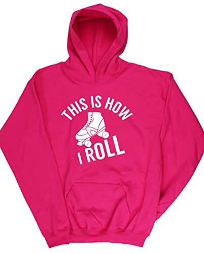hippowarehouse-roller-skates-this-is-how-i-roll-kids-unisex-hoodie-hooded-top