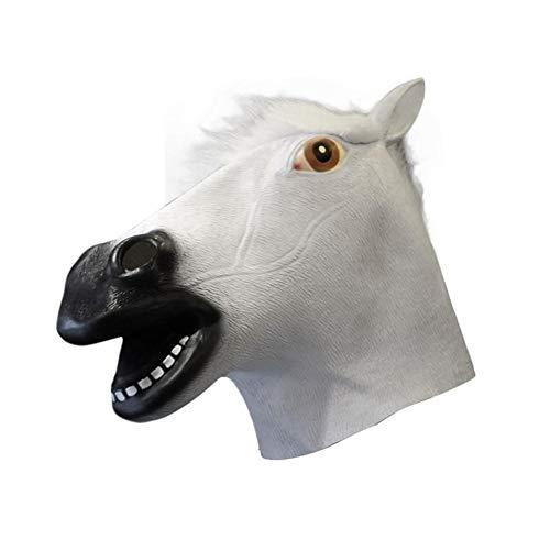 Pferde Maske, Deluxe Neuheit Halloween Kostüm Party Latex Tierkopf Maske
