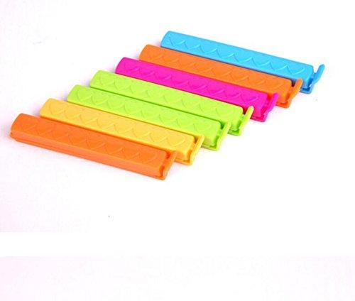 plsonk 7pcs Herz Muster Food Storage Dichtungen Tasche Clips Klemmen (zufällige Farbe)