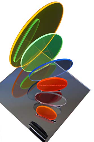 in-outdoorshop Acrylglas, Zuschnitt, Rund, Scheibe, Plexiglas® Platte Rund, verschiedene Größen(Ø 30mm, schwarz)