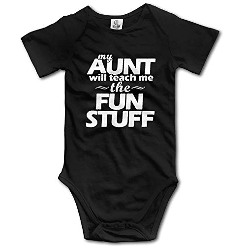 Girls Ribbed Tank (My Aunt Will Teach Me The Fun Stuff Newborn Unisex Boys Girls Short Sleeve Bodysuit Outfits)