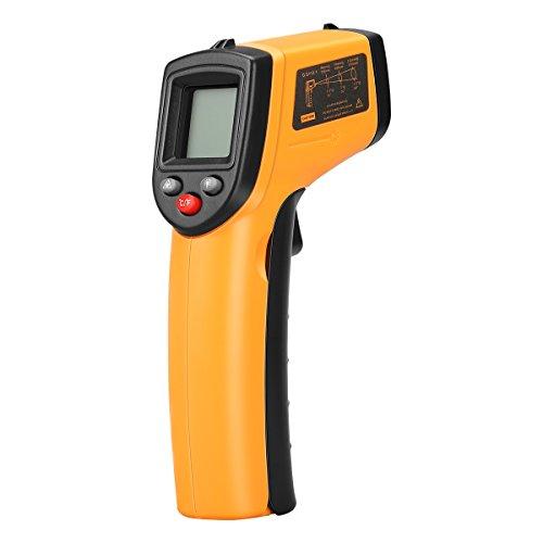 Thermomètre Infrarouge Laser Floureon, Thermomètre Digital Portable à Plage de -50°C à 380°Cavec Ecran LCD Rétroéclairé pour le Bricolage et la Cuisine