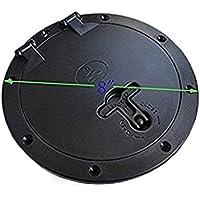 Kayak Accessoires Diamètre Intérieur du pont de 15,2 cm Trappe + Sac de chat, Black-6inch