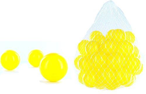 (CM3 100 Bälle für Bällebad gelb für Kinder, Babys, Tiere, 55 mm Durchmesser)