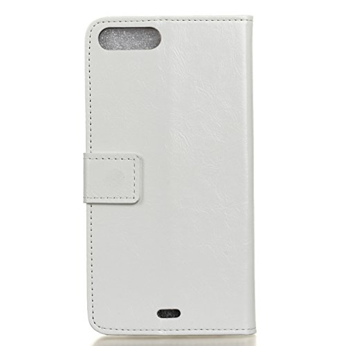 Tiga Shopping Iphone 7 Plus Case - Case Cover Cuoio di Vibrazione Classica per Iphone 7 Plus - Bianco