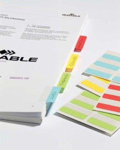 Durable Quick Tab 840500 - Lengüetas de índice reposicionables (48 unidades), colores surtidos