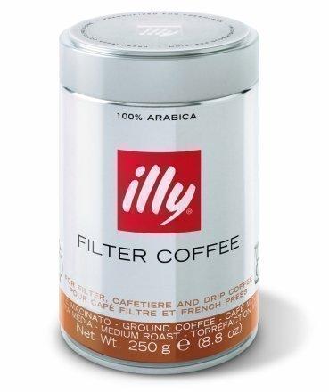 Illy - Gemahlener Filterkaffee für Filter Kaffeemaschinen Brow Etikett 250g
