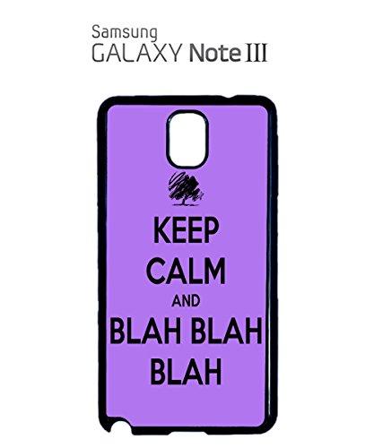 Keep Calm And Blah Blah Blah Novelty Funny Cool Mobile Phone Case Samsung Galaxy S3 Black Blanc