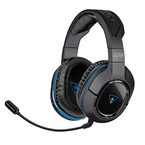 Turtle Beach Ear Force Stealth 500P Wireless DTS Surround Sound Gaming Headset [PS4, PS3] (Turtle Beach Chat Kabel-ps4)