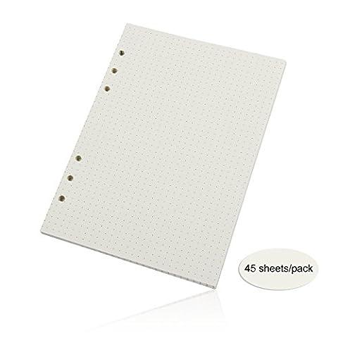 Evilandat Notepad Bloc Agrafe Perfore Bloc-notes A5 A Feuilles Détachables Vendu à l'Unité Vierge Papier Antique De Mariage Etiquette Carte Cadeau Papier Pointe 210*142mm 3 Pcs