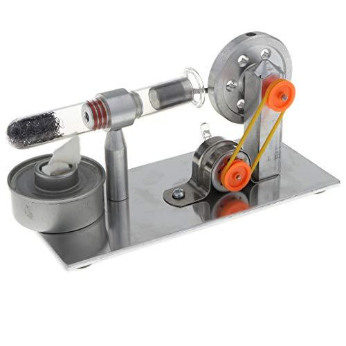 B Blesiya Physikalische Motorwärme Stromgenerator Stirlingmotor Modelle mit externer Verbrennung Kit ( mit Farbiger LED )