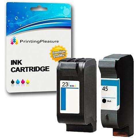 2 Compatibili HP 45 / HP 23 Cartucce d'inchiostro Sostituzione