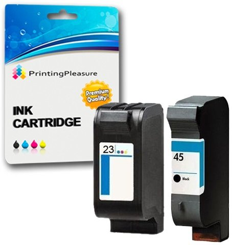 Printing Pleasure 2 Druckerpatronen für HP Deskjet 1120c 1120cxi 1120cse 1125c 710c 712c 720c 722c 815c 830c 880c 882c 890c 895cxi Copier 140 145 270 | kompatibel zu HP 45 (C51645AE) & HP 23 (C1823DE) -