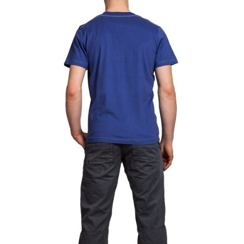 Timezone Herren T-Shirt, All over Druck T-shirt 22-0175 Blau (deep ultra blue 3536)