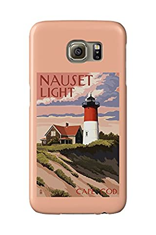 Cape Cod, Massachusetts - Nauset Light and Sunset (Galaxy S6 Cell Phone Case, Slim Barely There) (Nauset Light Cape Cod)