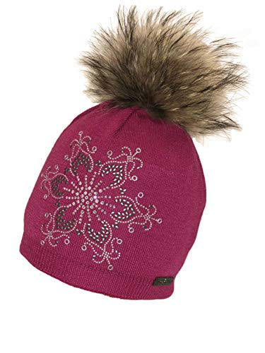 Norton Mütze Beanie Glitzerstern Bommel (pink)